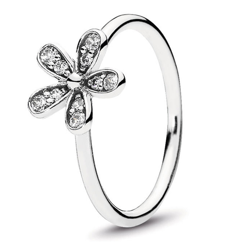 Кольцо на палец в форме сердечко серебряного цвета для женщин, европейская оригинальная Корона, изящные кольца на палец, свадебные украшения, 50 стилей, Прямая поставка - Цвет основного камня: Rings 028