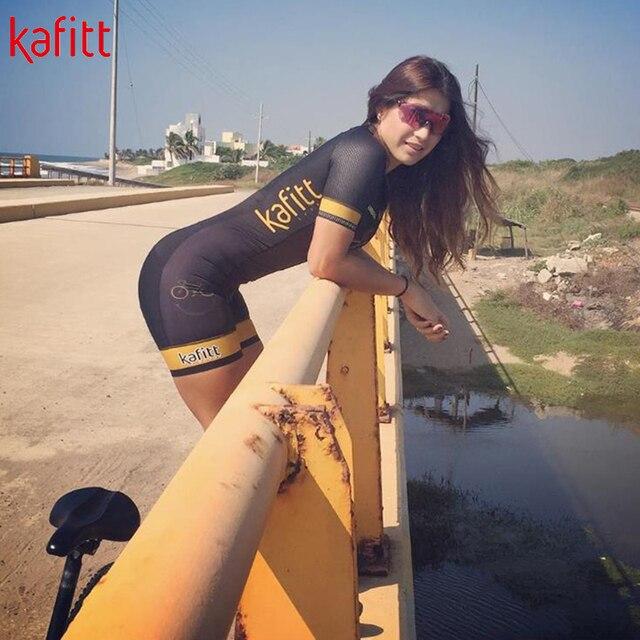 Kafitt nova pro equipe triathlon terno senhoras camisa de ciclismo macacão macacão bicicleta terno moletom 1
