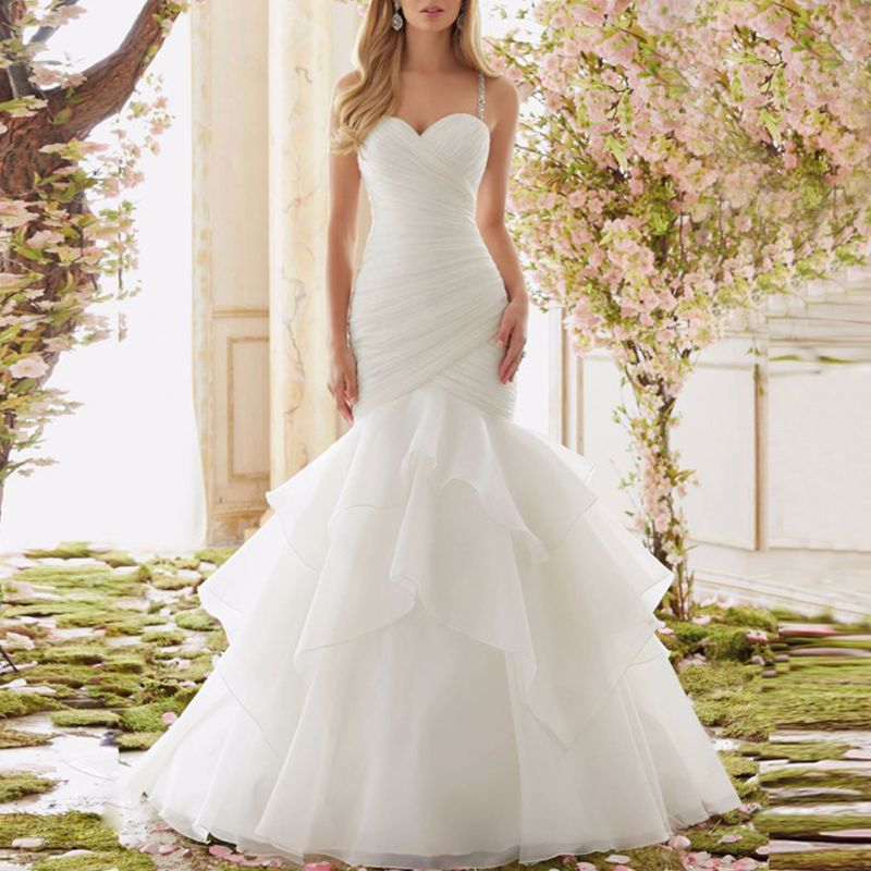 Wedding Dress Fishtail Skirt Support Petticoat Bride Women Prom Bag Hip Slip Skirts Liner Long Style