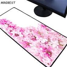 Mrgbest большой игровой коврик для мыши розового и фиолетового