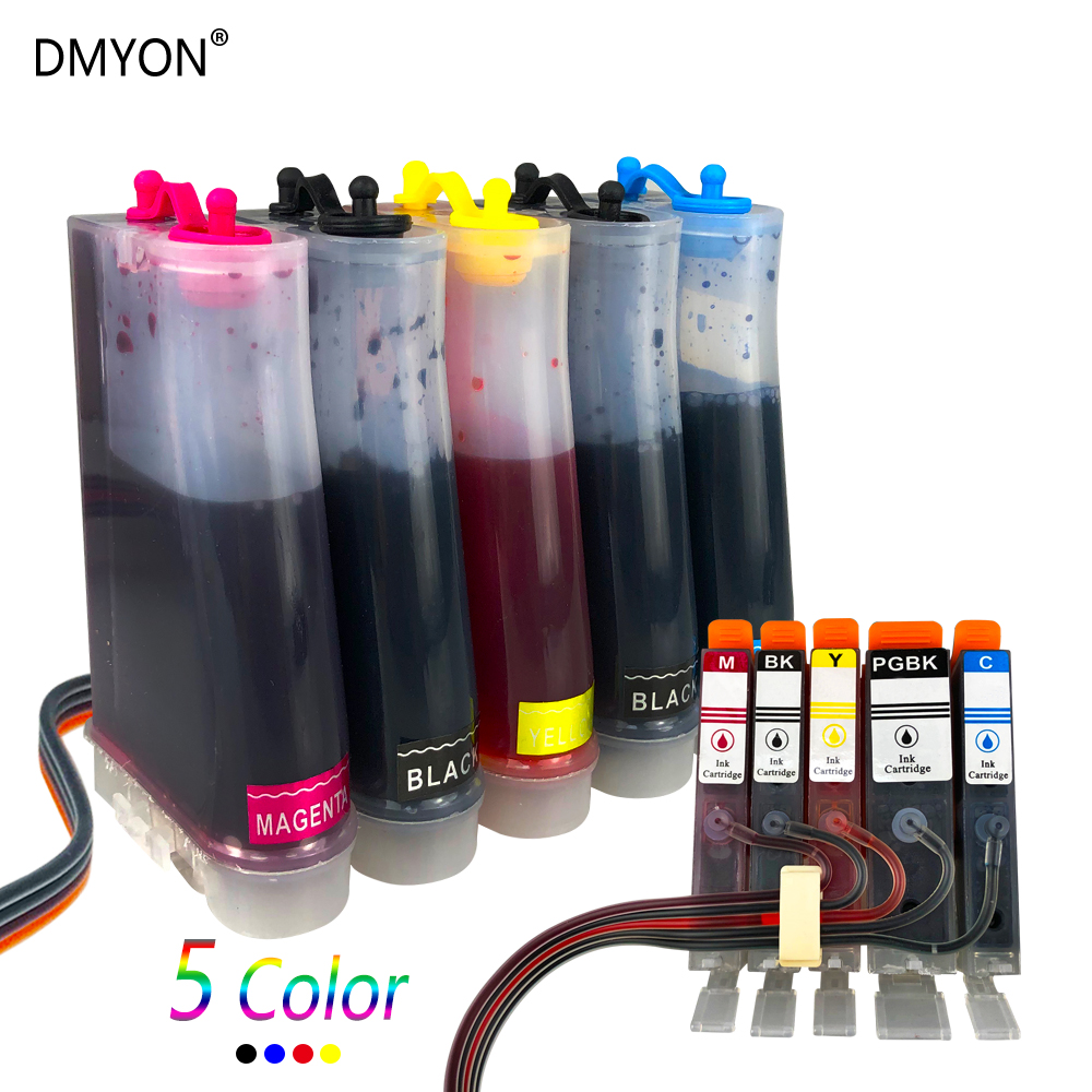 DMYON PGI 550 CLI-551 <font><b>CISS</b></font> Compatible for <font><b>Canon</b></font> <font><b>PIXMA</b></font> MG5450 <font><b>MG5550</b></font> MG6450 Ip7250 MX925 MX725 IX6850 Printer image