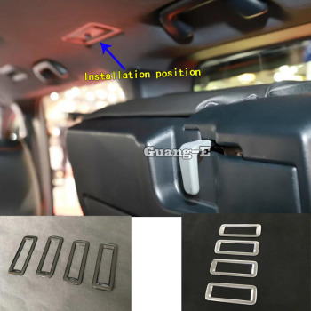 For Toyota Noah Voxy 80 Series 2014 2015 2016 2017 2018 Car Sticker Cover Styling Rear Back Box Air Vent Outlet Trim 4pcs