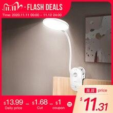 lampka na biurko 18650 LED Touch 3 Modes Clip Desk Lamp Reading Rechargeable USB Led Table Lamps lampka biurkowa do czytania