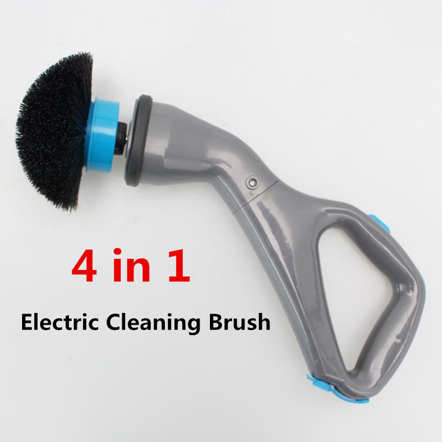 4pcs Cordless Hurricane Muscle Scrubber Electric Cleaning Brush with Brush Heads Bathroom Surface Bathtub Shower Tile Brush
