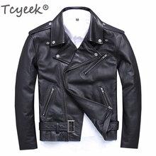 Tcyeek натуральная кожа куртка мужская уличная Мужская s Moto& Biker овчина зауженное пальто впору 5xl натуральная кожа пальто s15616