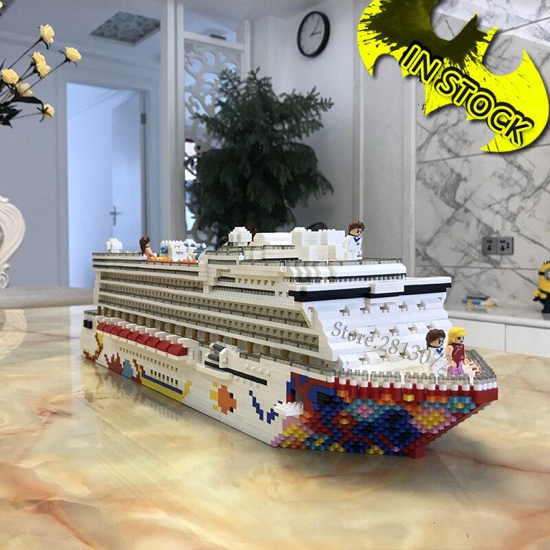 In Stock 2020 Mini Blocks Luxury Cruise Ship 4750pc Building Blocks ZRK 7800 Diamond Blocks Educational Toy Creative ZRK7822