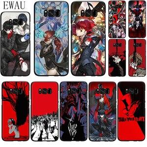EWAU P5 P Persona 5 Silicone phone case for Samsung S6 S7 Edge S8 S9 S10 Note 8 9 10 plus S10e M10 M20 M30 M40
