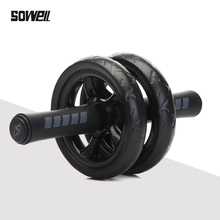 Fitness Ab Roller& Mat No Noise Muscle Double-wheeled abdominal wheel Workouts addominali Fitness Exercise Training Equipment no noise abdominal wheel ab wheels roda abdominal exercise rollers with mat for exercise fitness equipment muscle trainer