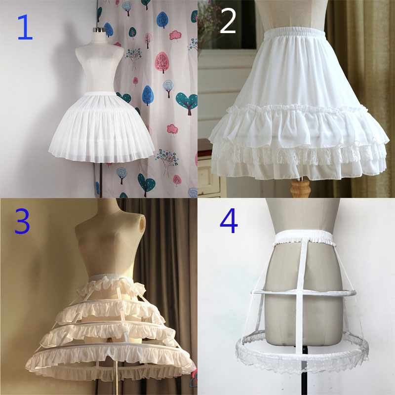E JUE SHUNG Ball Gown Underskirt Short Dress Cosplay Petticoat Bones Lolita Petticoat  Ballet Rockabilly Crinoline