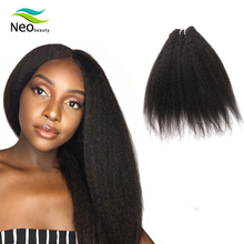 Brazilian Raw Human Hair Kinky Straight Hair Weave Bundles 1/3/4 Pieces Neobeauty Virgin Human Hair Extension 10-24 inches цена 2017