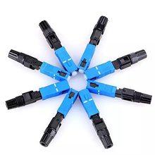 100 шт. FTTH SC UPC одномодовый волоконно-оптический SC UPC быстрый разъем FTTH Волоконно-оптический Быстрый разъем SC коннектор