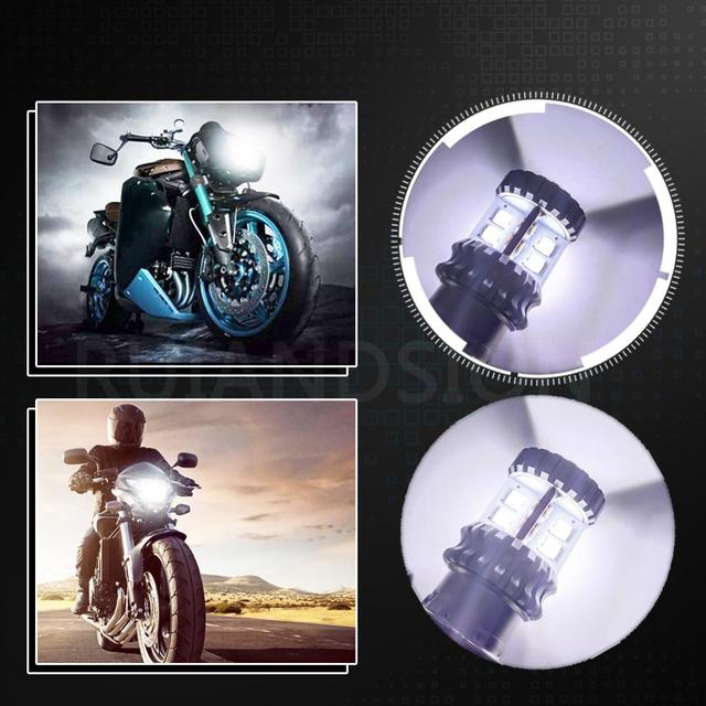1 шт 20smd p15d h6m p26s светодиодная лампа фара мотоцикла неполярность фотография