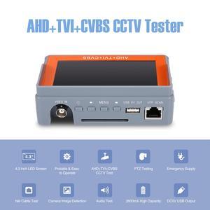 Image 4 - ANNKE 4.3 Cal 1080P tester kamery monitoringu AHD CVI TVI analogowy CVBS w 1 anologu testowanie kamery PTZ UTP tester kabli 12V1A wyjście
