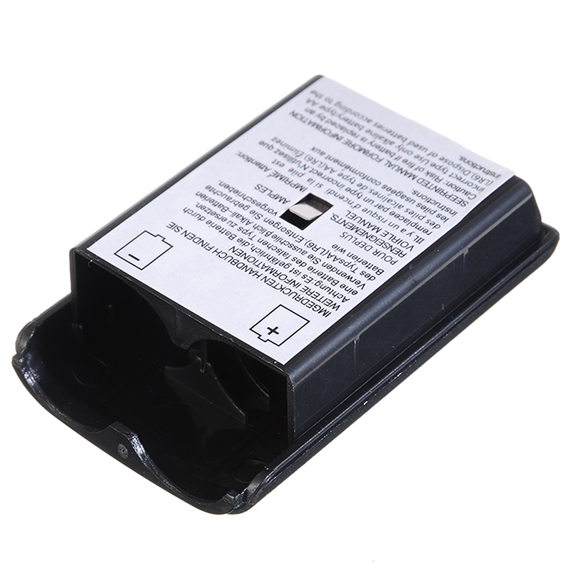 1pc New Arriwal Black AA Battery Cover ABS Plastic Holder Shell Case for XBOX 360 Wireless Controller Game Accessories