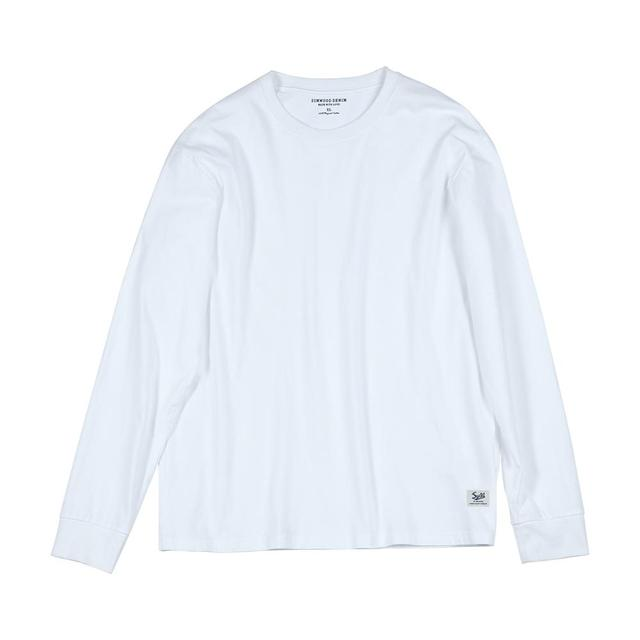 SIMWOOD 2021 Spring new long sleeve t shirt men solid color 100% cotton o-neck tops plus size high quality t-shirt  SJ150278 6