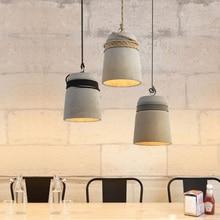 Промышленные Ретро подвесные лампы цемента подвесной светильник с Винтаж Творческий Крытый подвесной светильник s Бар Ресторан конкрет светильник 110v 22