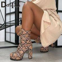 Женские ботильоны на платформе doratasia модные ботинки толстом
