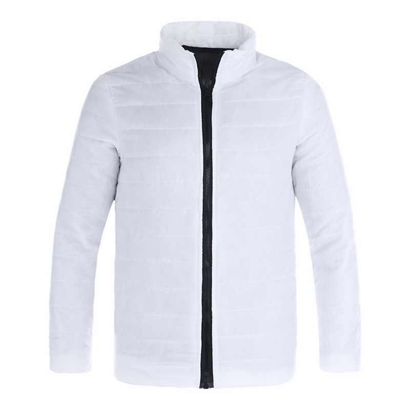 MJARTORIA Winter Jacke Männer Mode Stehen Kragen Männlichen Parka Jacke Mens Solide Dickes Jacken und Mäntel Mann Winter Parkas M-5XL