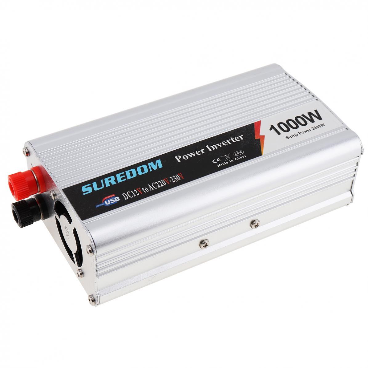 1000W DC 12V 24V do AC 220V 110V USB przenośna przetwornica napięcia Adapter ładowarka napięcie uniwersalne konwerter moc udarowa 2000W nowy