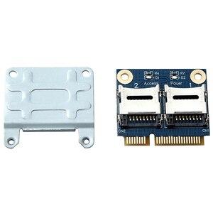 Image 5 - 2 SSD HDD do laptopa podwójny micro sd SDHC SDXC TF do Mini PCIe czytnik kart pamięci MPCIe do 2 mini sdcards Mini Pci E Adapter
