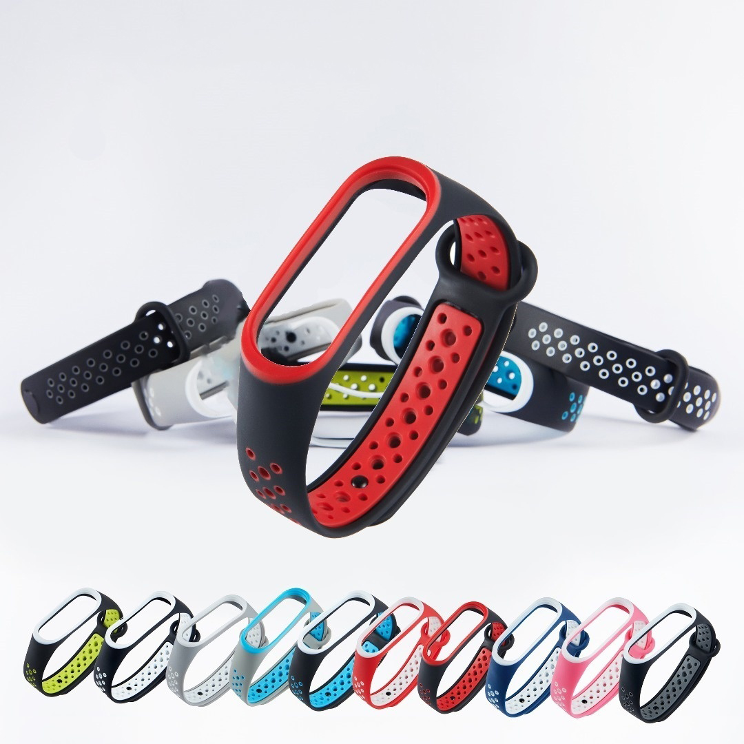Silicone Sports Strap For Xiaomi Mi Band 4 3 Strap Waterproof Soft Rubber Strap Band3 NFC Belt Watch Accessories