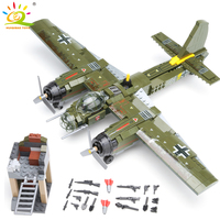 559pcs Military Ju 88 bombing plane Building Block WW2 Helicopter Army weapon soldier Legoing model bricks kit Toys for children