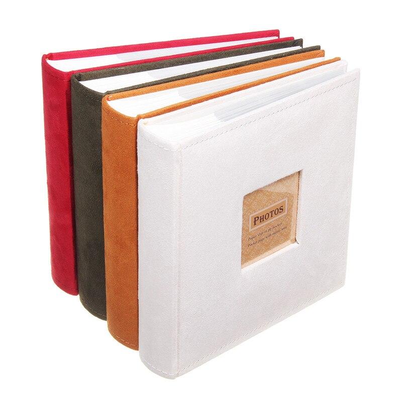 1Pc contient des Photos Slip In mémo Album Photo famille mémoire cahier Photos Albums 200 Photos pour photographies Albums livre 4 couleurs