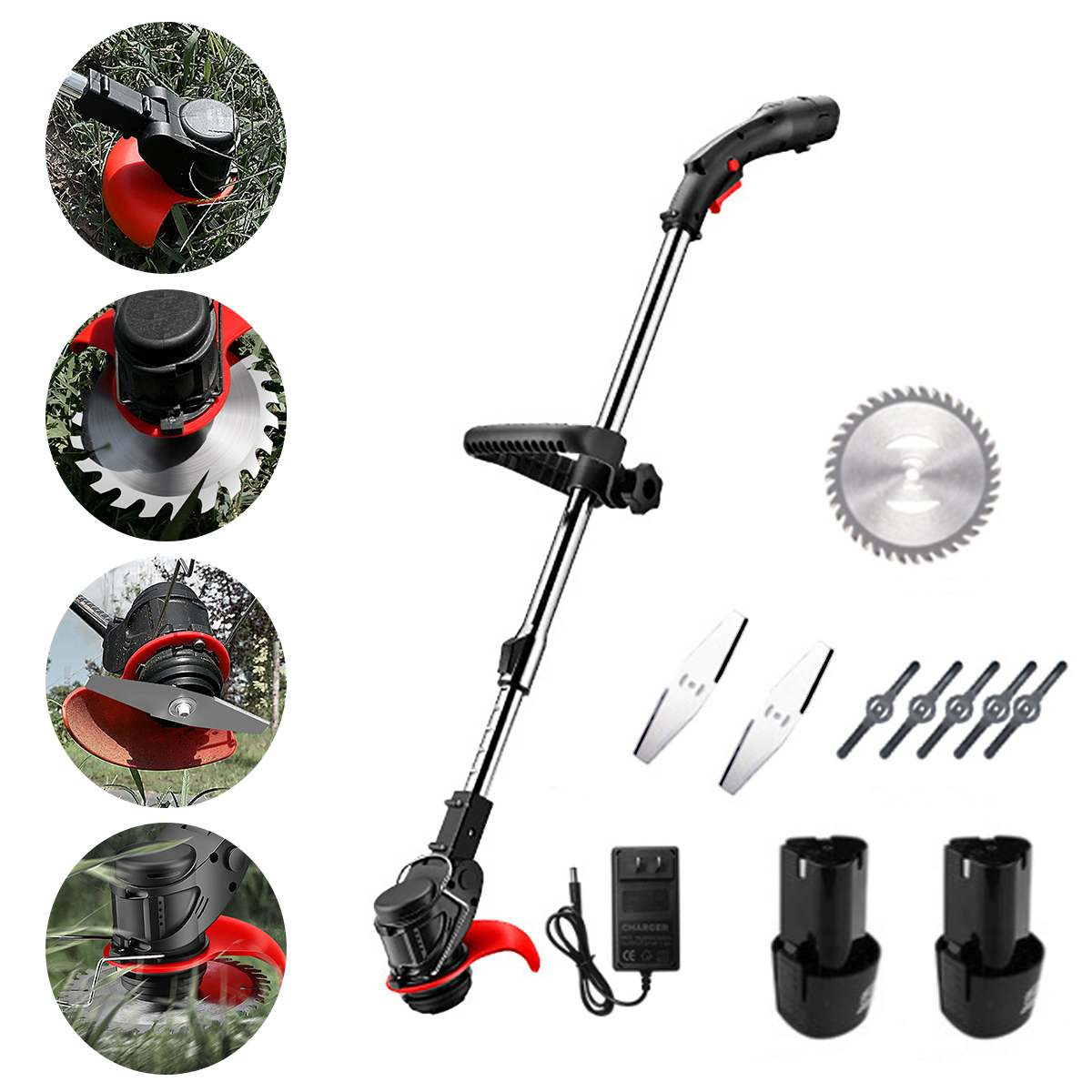 Portable Electric Grass Trimmer Handheld Lawn Mower Agricultural Household Cordless Weeder Garden Pruning Tool Brush Cutter
