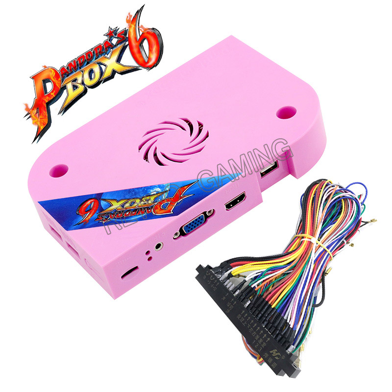 Original Pandora box 6 1300 in 1 jamma arcade cabinet machine CRT CGA VGA HDMI support fba mame ps1 game 3d tekken pacman