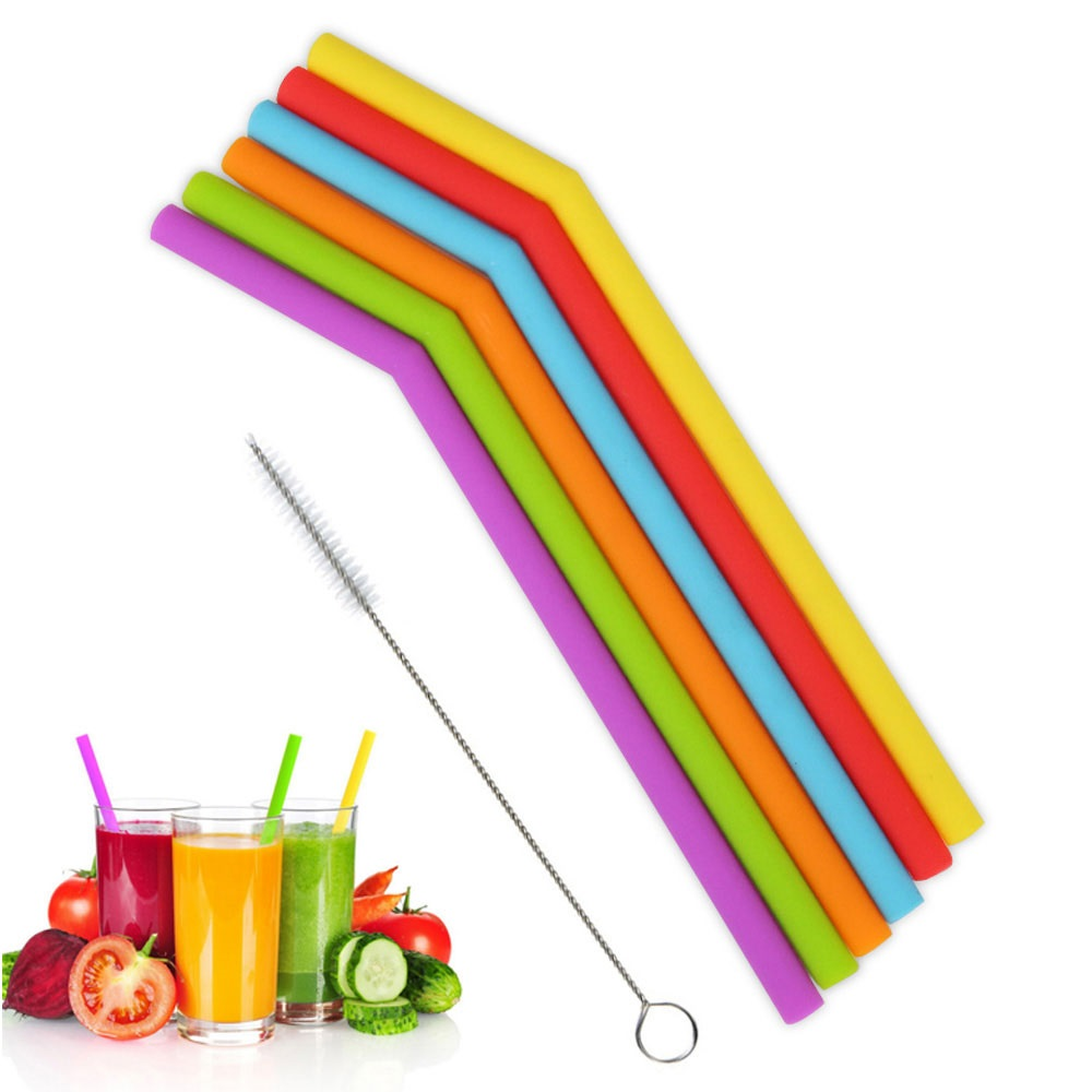 5Pcs/Set Stainless Steel Straw Brush Cleaner Eco-friendly Nylon Straw Cleaning Brushes For Smoothie Straws Easy Clean Food Grade
