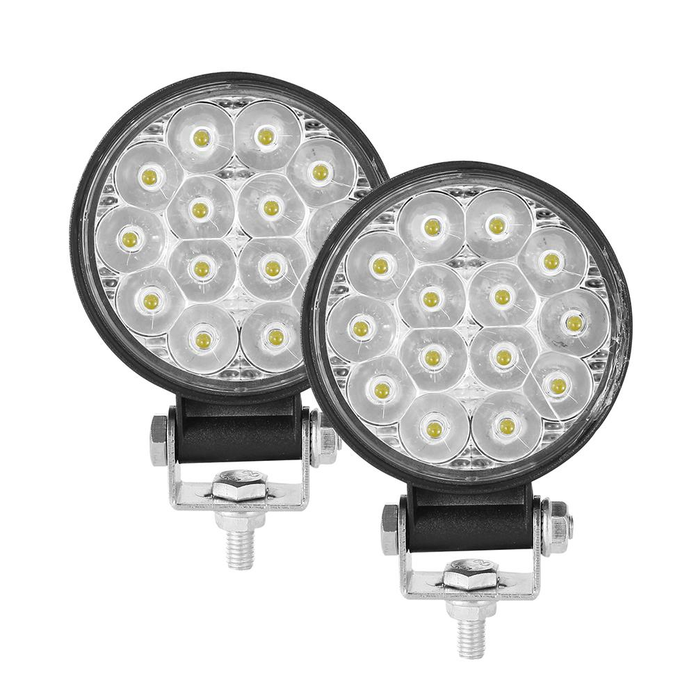Auto 2PCS 10-30V 6000K 72W Car LED Light Mini 3 Inch 14 Beads Round Lamp Off-road Car Headlights Motorcycle Spotlights
