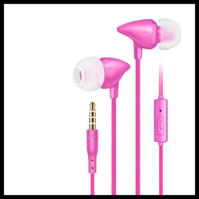 3.5mm słuchawki douszne słuchawki douszne Sport zestaw słuchawkowy z mikrofonem regulacja głośności wodoodporna muzyka Gaming off białe słuchawki douszne do muzyki MP3