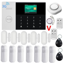 3G WIFI GSM GPRS Alarm System APP Remote Control with Color Screen 433MHz Home Burglar Security Alarm System 9 Languages Switch europe quality tcp ip ethernet gsm alarm with rj45 port android ios app remote control 868mhz home alarm burglar system