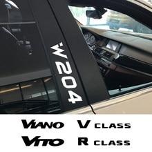 4 Uds etiqueta engomada del coche para Mercedes Benz W124 W203 W204 CITAN Clase R SPRINTER clase V VIANO VITO Auto accesorios película de vinilo calcomanía