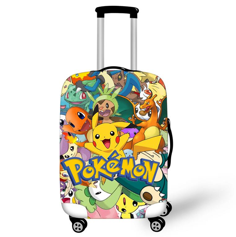 18-32 Inch Pokemon Haunter Eevee Elastic Luggage Protective Cover Trolley Suitcase Dust Bag Case Cartoon Travel Accessories