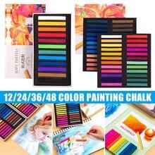 Soft Pastel Set Square Pastels Chalks Square Artist Pastel Set Box of 12/24/36/48 Assorted Colors 2021