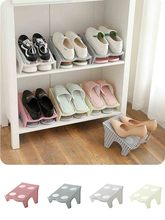 Shoe Organizer Door Hanging Shoes Storage Wall Shoe Slots Double Layer Plastic Space Saver Holder Box Organizer Storage 64P(China)