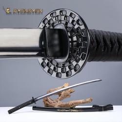 RYONGYON ручная работа Катана настоящая острый меч настоящий японский самурайский меч японский ниндзя меч 1095 сталь полное Tang черное лезвие 522