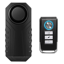 Controle remoto alarme de bicicleta à prova d113água da motocicleta elétrica segurança 113db anti perdido lembrar vibração alarme aviso sensor