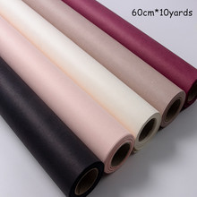 60cm*10yards/roll Thicken Imported Solid Color New Flower Wrapping Paper Floral Kraft Packaging Material