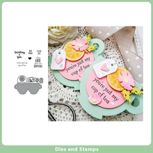 Coffee cup Metal Cutting Dies and Rubber Stamps for DIY Scrapbooking Card Dies Cut Stencils Paper Crafts Photo Album Decorative cup coffee flower sticker painting stencils for diy scrapbooking stamps home decor paper card template decoration album crafts