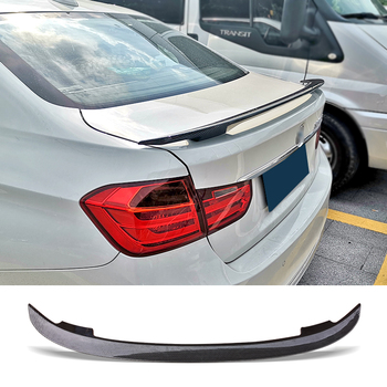 Trunk Spoiler Carbon Surface MT Style Car Refit Accessories Rear Wing For BMW E92 320i 330i 325i Series Universal Type image