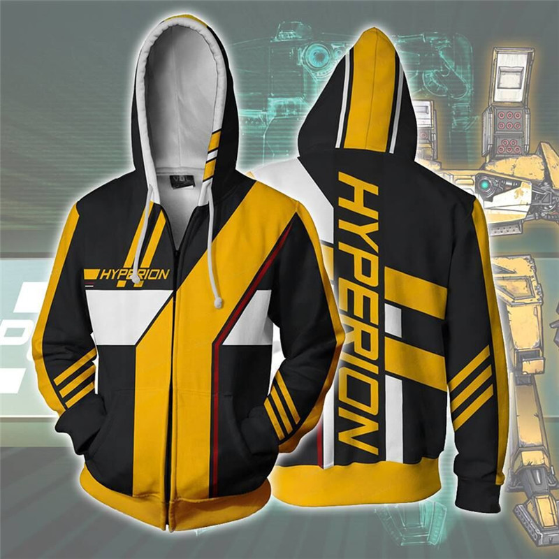 Men's Sweatshirt Borderlands 3D Hoodies Women/Men Long Sleeve Casual Hoody Cosplay Costume Sweatshirts Man Streetwear Coat