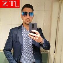 ZT Luxury Men Square Pilot Sunglasses Big Frame Brand Designer Gradient Sun Glasses Oversized UV400
