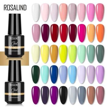 ROSALIND Nail Gel Polish Hybrid Vernis 7ML Soak Off Nails Art Design Semi Permanent Gel Lacquer Pure Colors All For Manicure 1