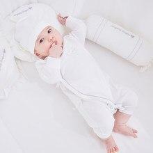 Pureborn pijamas recém-nascidos bebê macacão pima algodão manga longa bebê menina do menino macacão cinta encerramento sólido bebê básico roupas