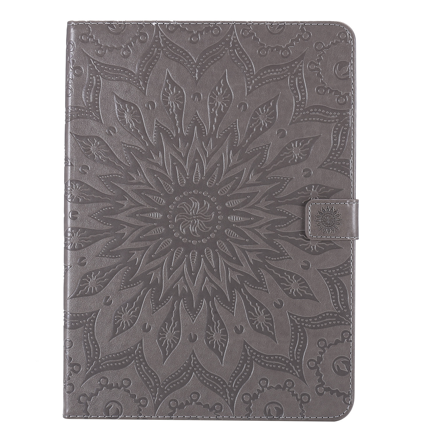 7 Gray Flower 3D Embossed Cover for iPad Pro 12 9 Case 2020 Leather Protective Shell Skin for