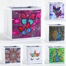 5D Diamond Painting Storage Box DIY Diamond Storage Box for Home Painting Kit Butterfly Decor Organizer Shaped Drill Folding Box