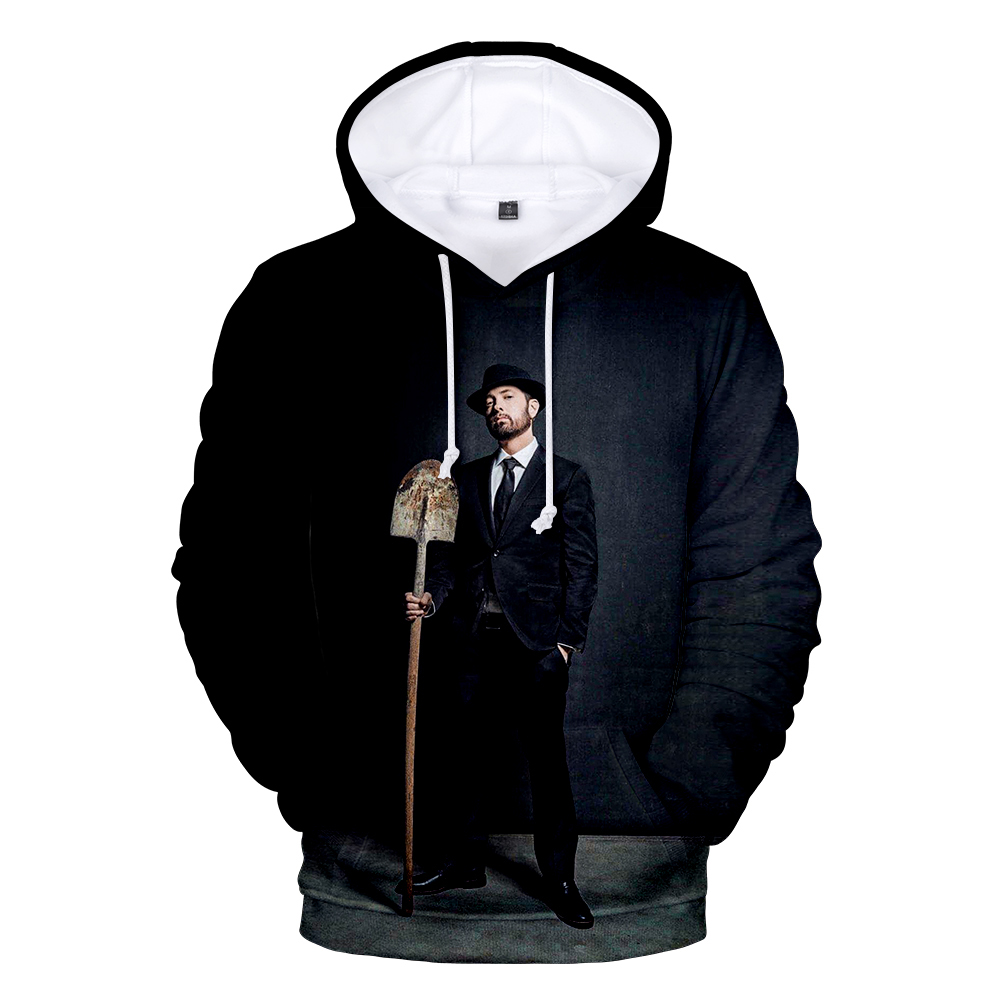 Suitable 3D Eminem Hoodies Long Sleeve Sweatshirts Men Women Hoodie Autumn Kids 3D Print Eminem Hooded Boys Girls Black Outwear