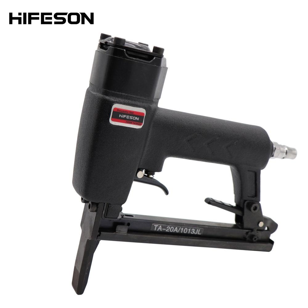 Lengthen Pneumatic Air Nailer Gun 1013JL U Shape Nail Gun Tool Nailing Stapler Furniture Wire Stapler for Wood Sofa woodworking